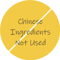 Chinese Ingredients Not Used